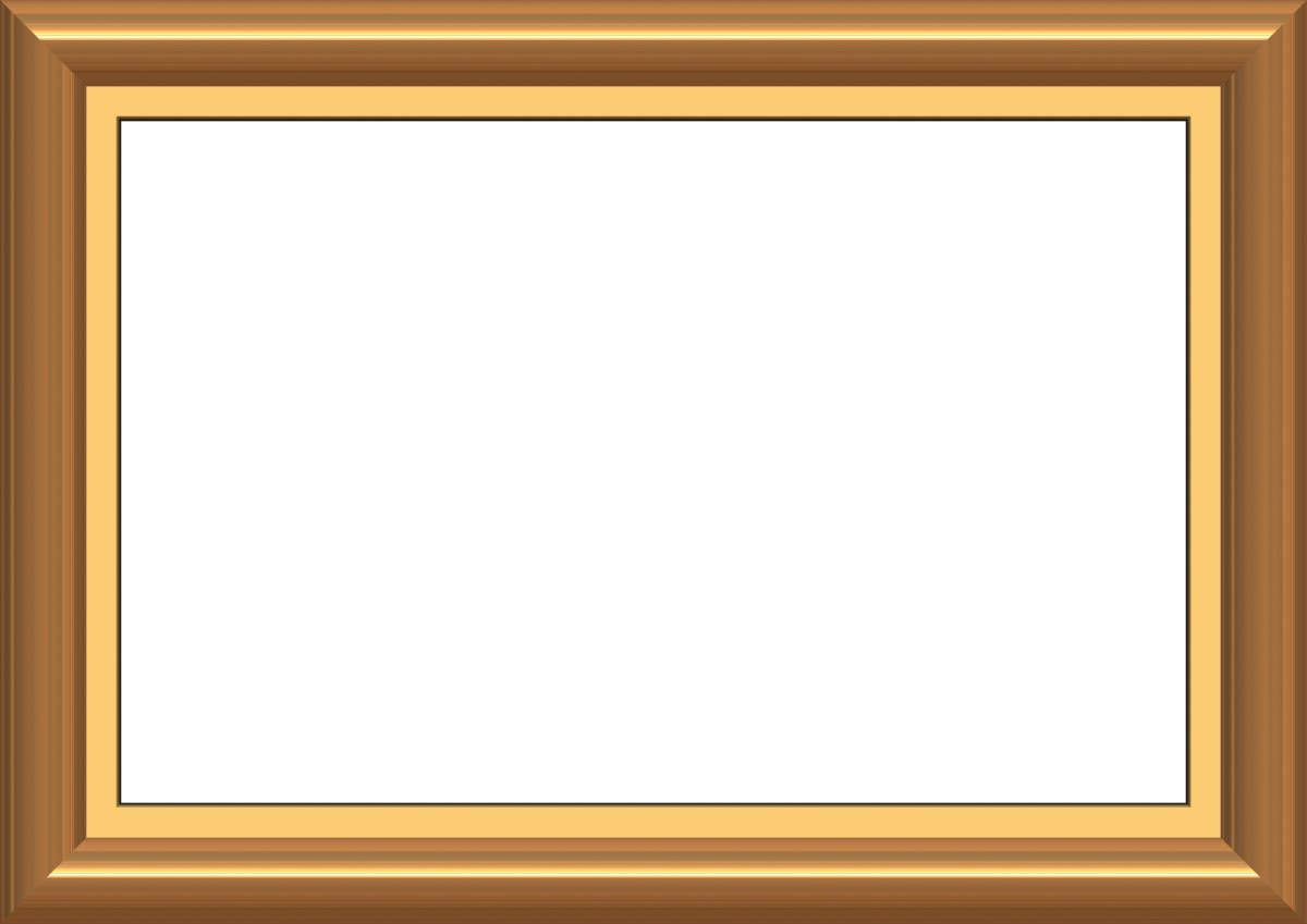 Golden wooden frame border